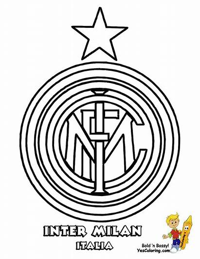 Coloring Soccer Pages Inter Yescoloring Milan Fifa