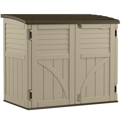 Suncast Horizontal Shed Home Depot suncast horizontal storage shed 34 cu ft the home