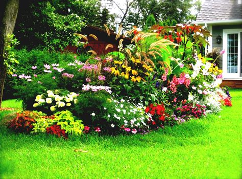 flower bed designs on flower garden plans front