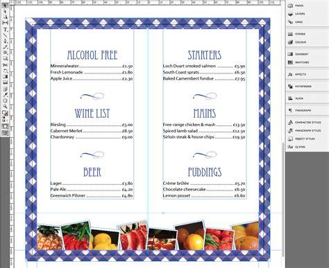 tutorial menu card template   restaurant