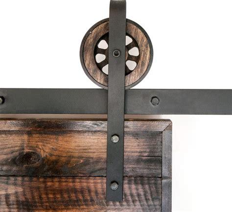rustic sliding barn door closet hardware set 8ft rustic
