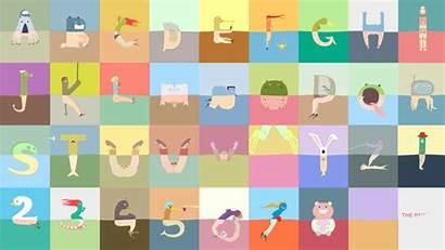Pantless Alphabet Animated Characters Animation Project Animado