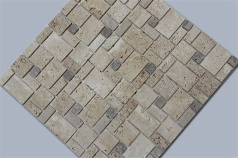 mosaic tile travertine peel and stick instant self adhesive tile Instant