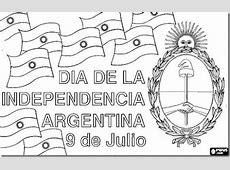 Bicentenario de la Independencia Argentina para colorear