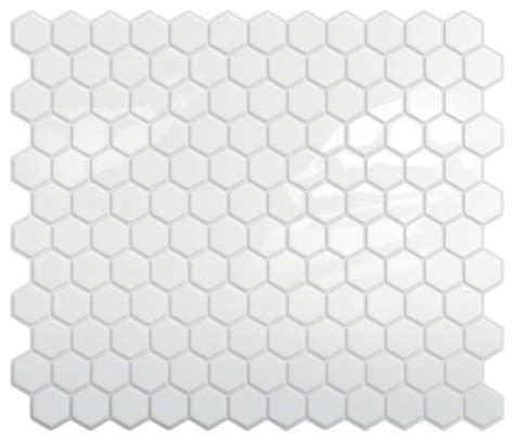 white peel and stick tile peel and stick hexagon mosaic backsplash white