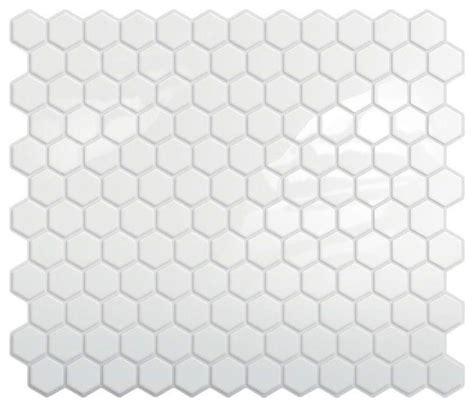 hexagon backsplash tile home depot peel and stick hexagon mosaic backsplash white