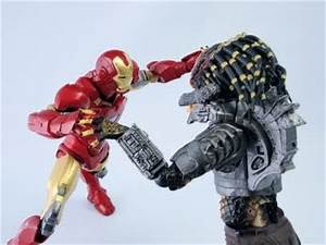 guNjap: Revoltech: Predator Vs Iron Man Mark VI Images