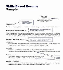 Skills Based Resume Sample Pdf