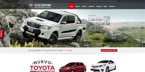 Página Web Toyota Yacopini