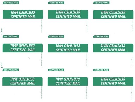 certified mail pro software  labels