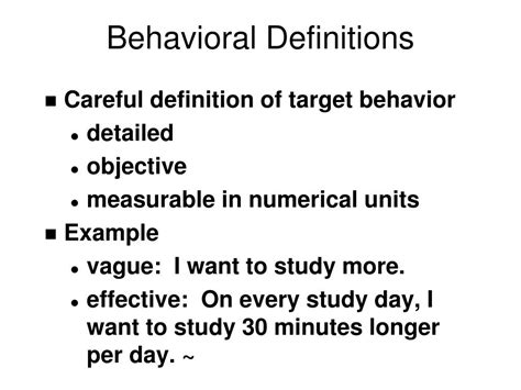 Modification Analysis Definition by Ppt Behavior Modification I Powerpoint Presentation Id