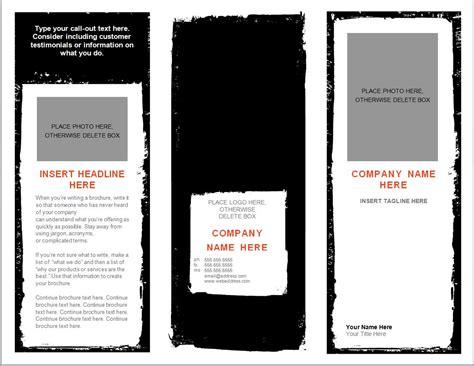 word brochure template brochure template word