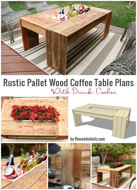 remodelaholic diy outdoor pallet coffee table  drink