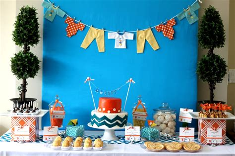 modern chevron print baby shower kara s ideas the place for all things
