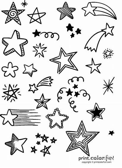 Stars Lots Coloring Things Printable Animals Fun