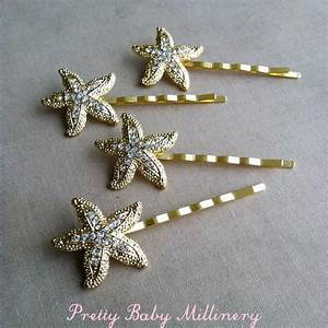 Beach Wedding Hair Accessories Starfish Rhinestone Hairpin