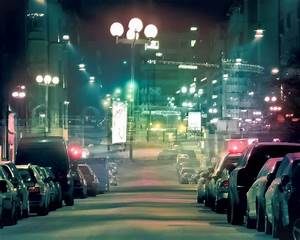 Download Wallpaper 1280x1024 Streets of the city at night ...