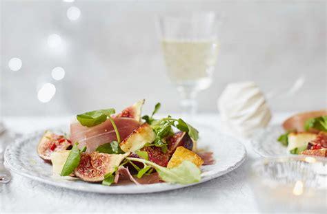 1 bowl kitchen serrano ham halloumi and fig salad tesco real food
