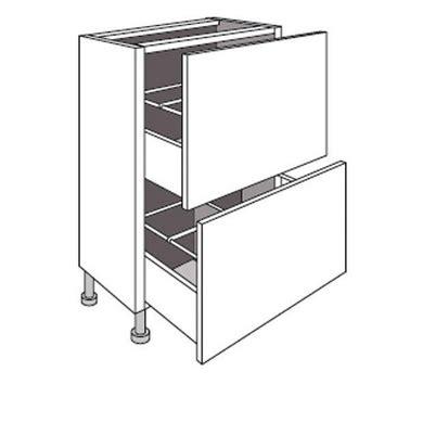 meuble cuisine profondeur 40 meuble de cuisine bas faible profondeur 2 tiroirs twist