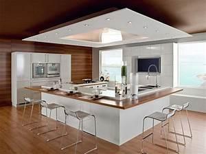 design cuisine ilot central japonais inspirations et With cuisine avec ilot bar