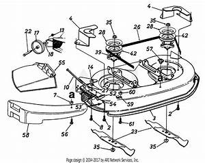Mtd 13am690g352  1997  Parts Diagram For Deck Assembly 42 Inch