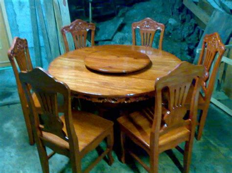 wood furniture  seater narra dining set  sale