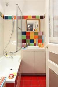 14 best images about salle de bain on pinterest coins With idee deco salle de bain carrelage
