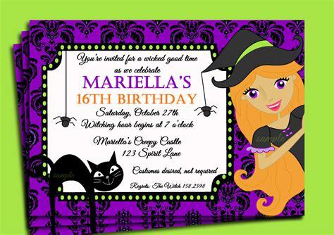 halloween themed birthday party invitations festival