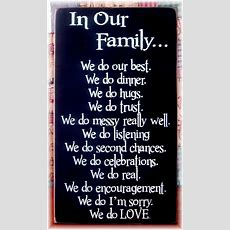 In Our Family We Dofamily Motto Rules By Woodsignsbypatti