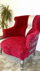 Fauteuil Crapaud Cuir : fauteuil crapaud velours et simili cuir fa on patchwork zipp vendre la belle assise ~ Teatrodelosmanantiales.com Idées de Décoration