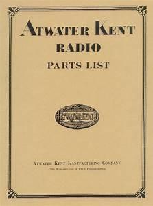 Atwater Kent Radio Parts List