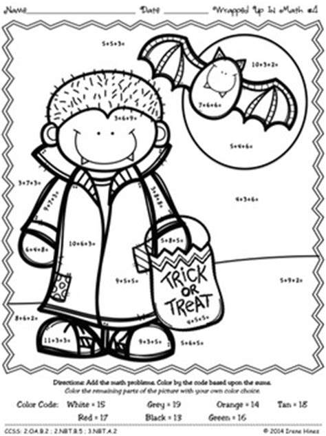 color   number code wrapped   math halloween addition puzzles