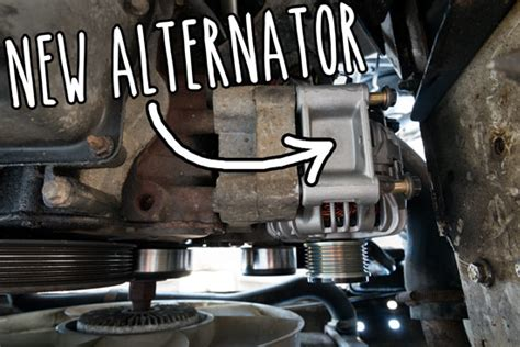 breaking and fixing it how i changed the alternator in a carpark vandog traveller