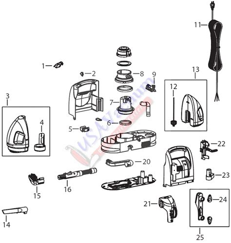 Wiring Diagram For Bissell Vacuum Cleaner by Bissell 7901 Parts Diagram Downloaddescargar