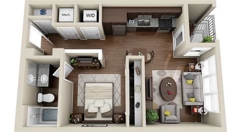 small house floor plans with basement 3dplans