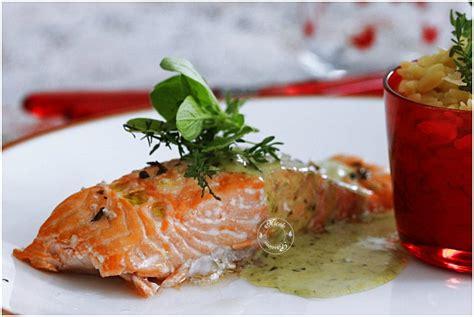 pav 233 de saumon sauce au pesto de basilic et risotto de p 226 tes passions