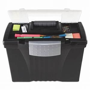 portable file storage box w organizer lid by storex With portable document storage