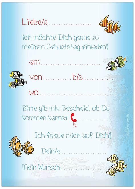 vorlage einladung kindergeburtstag gratis geburtstag