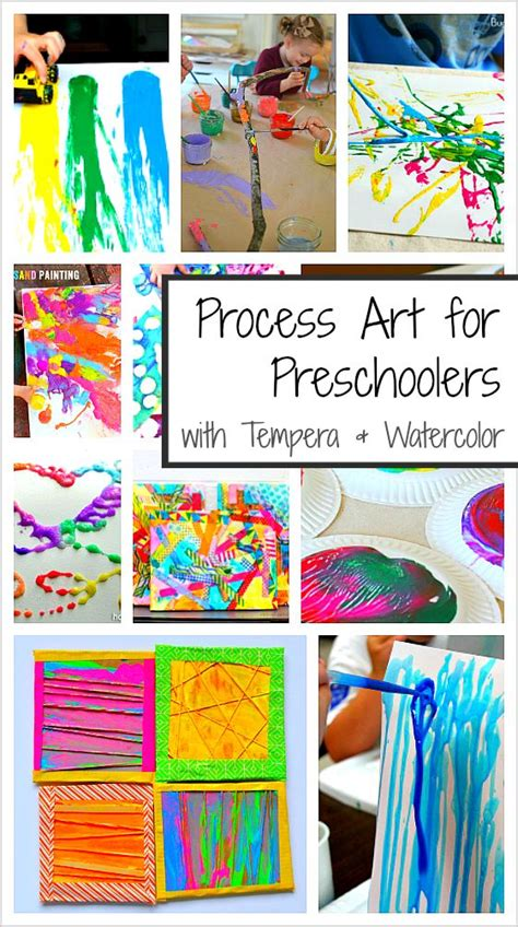 process art activities  preschoolers  paint