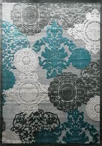 impressionnant tapis bleu beige decoration francaise With quelle couleur avec gris anthracite 14 conseils deco pour votre tapis itao