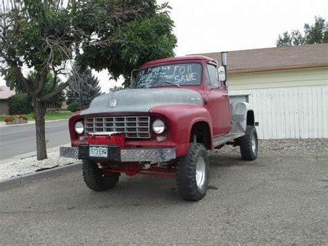 sell used 1953 f 100 ford 4x4 with all dodge running gear 60 s awesme truck 1of kind in