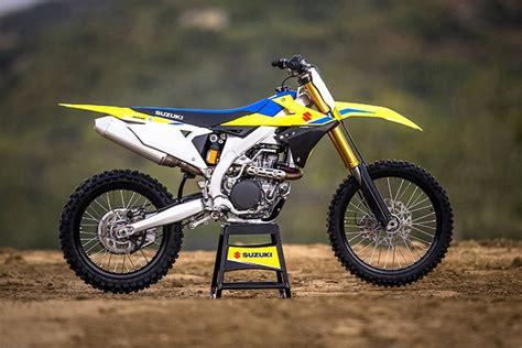 suzuki motocross bike 2018 suzuki rm z450 motocross review specs pics bikes