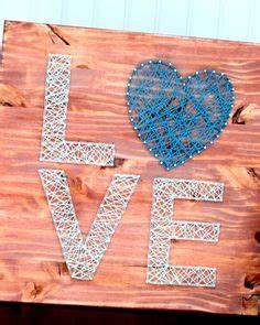 Infinity string art decor with custom dates and red heart
