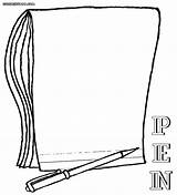 Pen Coloring Pages Notebook Colouring Colorings Coloringway sketch template