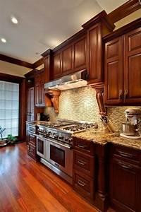 25, Wonderful, Cherry, Wood, Cabinets, Kitchen, Decorating, Ideas