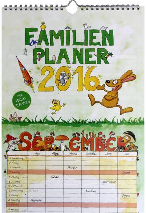 Familienplaner 2016 Familienkalender mit 6 Spalten NEU