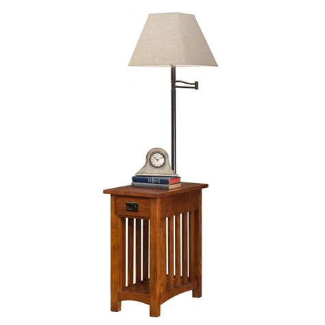 side table with built in l table with l built in outstanding for image of end