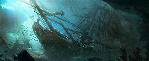 underwater pirate shipwreck painting - Google Search ...