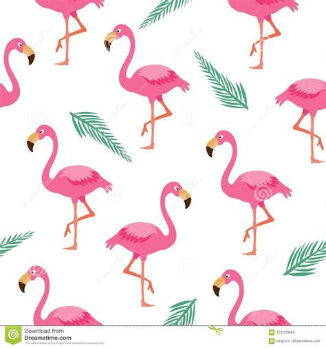 flamingo seamless patternpink flamingo background stock
