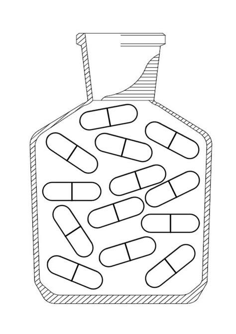 Kleurplaat Medicijnen by Doktersspullen Kleurplaat Pillen Thema Ziek Zijn